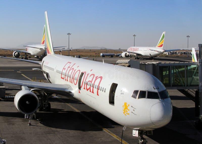 埃塞俄比亚航空飞机 免版税库存图片