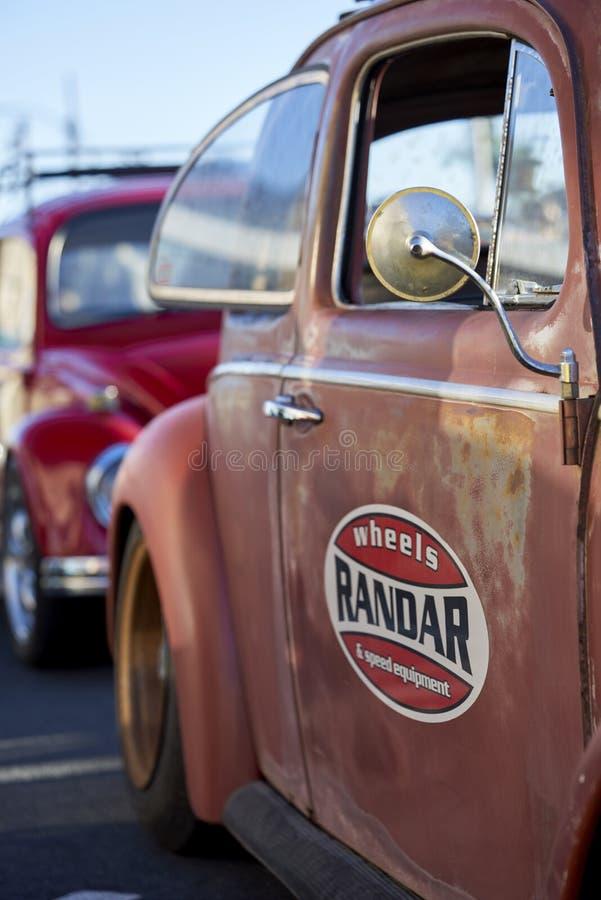 埃尔卡洪, CA/USA - 2016年9月14日:Cajon经典巡航是南加州车展举行的每周4月- 10月 库存图片