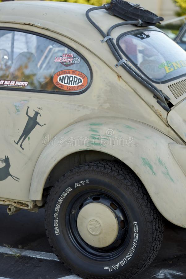 埃尔卡洪, CA/USA - 2016年9月14日:Cajon经典巡航是南加州车展举行的每周4月- 10月 免版税库存图片