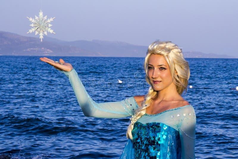 埃尔莎公主冻 库存图片