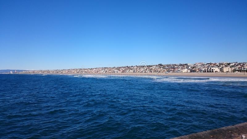 埃尔莫萨海滩,加利福尼亚 免版税图库摄影
