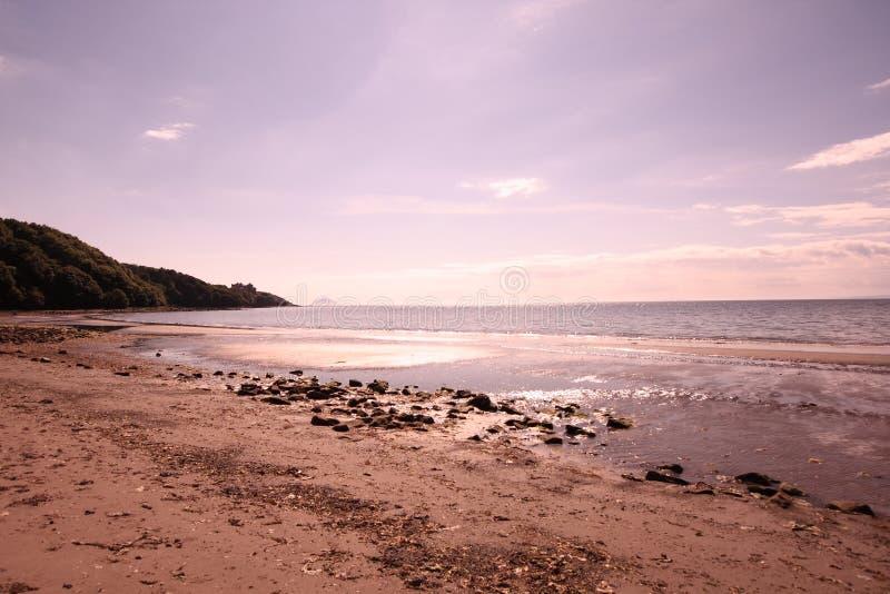 埃尔郡海滩 免版税库存图片