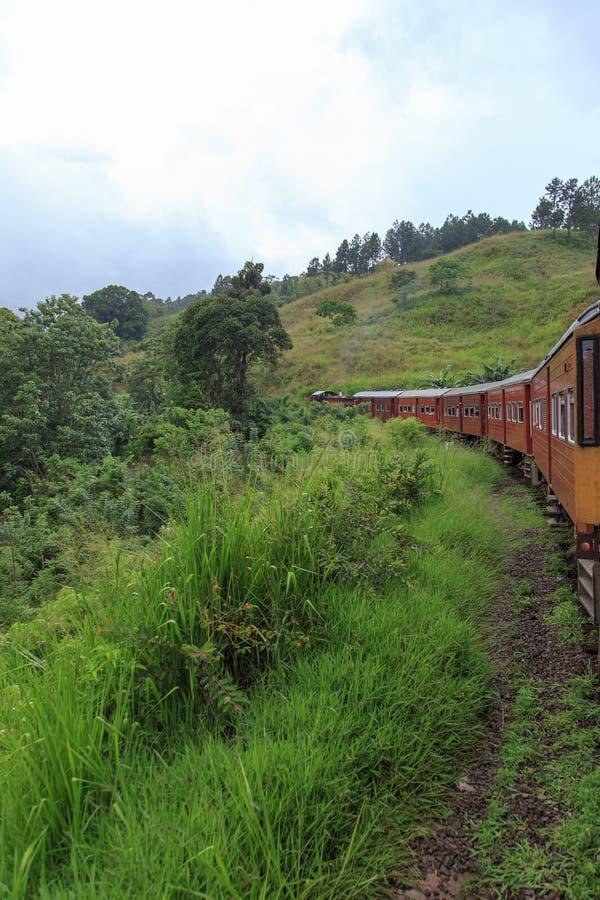 埃拉列车行程的康提-斯里兰卡 免版税库存照片