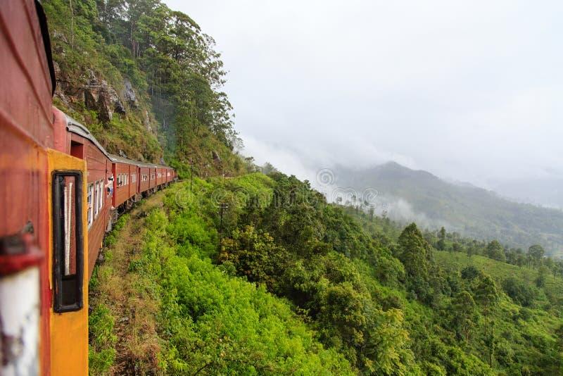 埃拉列车行程的康提-斯里兰卡 免版税库存图片