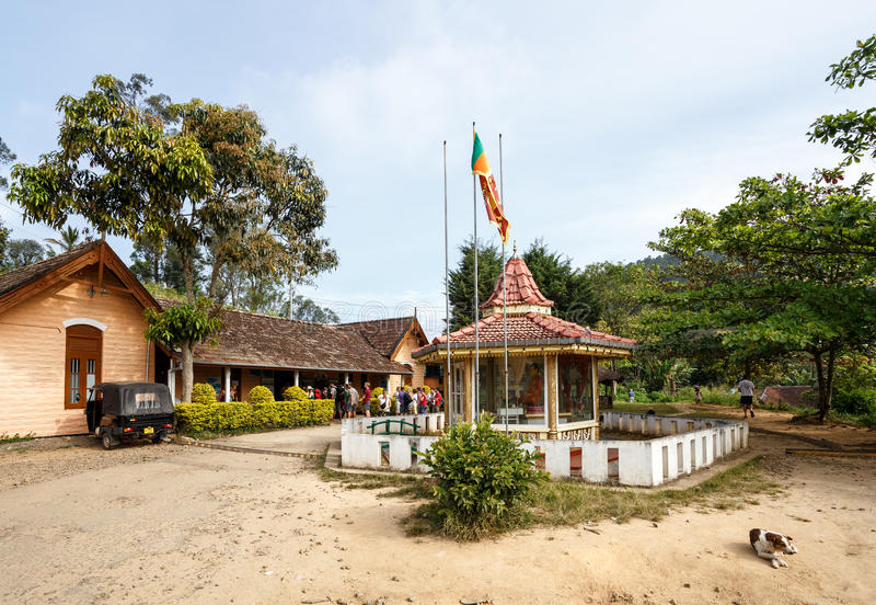 埃拉火车站在斯里兰卡 库存照片