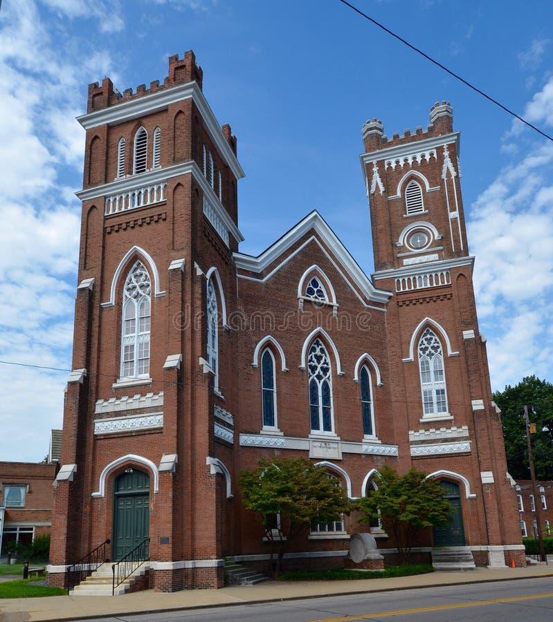 埃文斯维尔教会 库存图片
