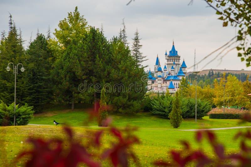 埃斯基谢希尔,土耳其:童话当中城堡,成为了埃斯基谢希尔的标志,由许多地方参观和外国 图库摄影