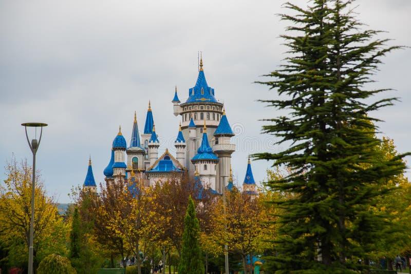 埃斯基谢希尔,土耳其:童话当中城堡,成为了埃斯基谢希尔的标志,由许多地方参观和外国 免版税库存图片