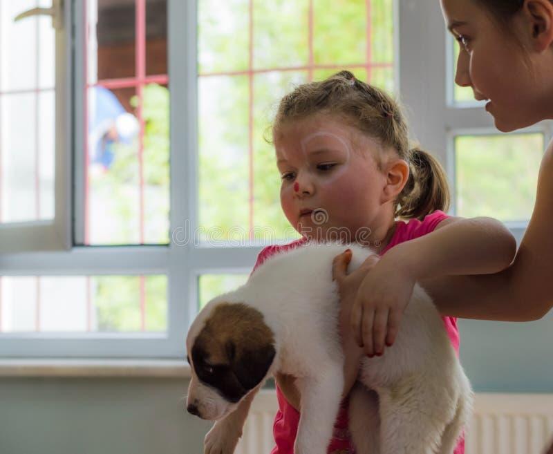 埃斯基谢希尔,土耳其- 2017年5月05日:出席动物天事件的学龄前孩子在幼儿园 库存照片