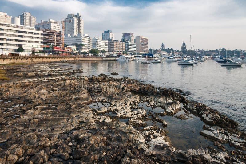 埃斯特角海滩乌拉圭 库存图片