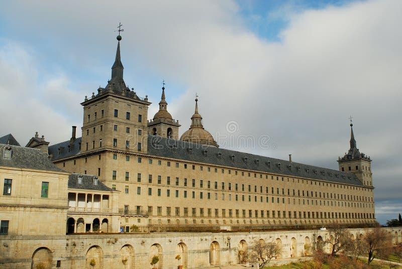 埃斯科里亚尔修道院修道院在马德里,西班牙 免版税库存图片
