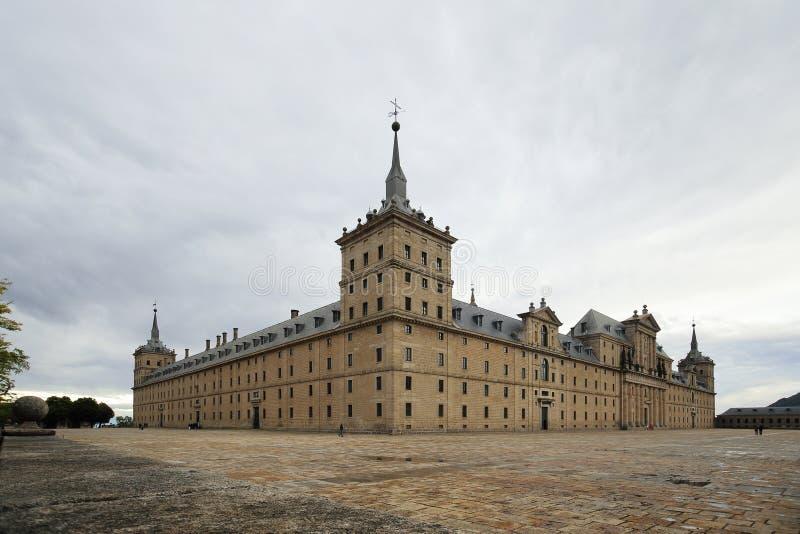埃斯科里亚尔修道院皇家修道院在马德里,西班牙附近的 免版税图库摄影