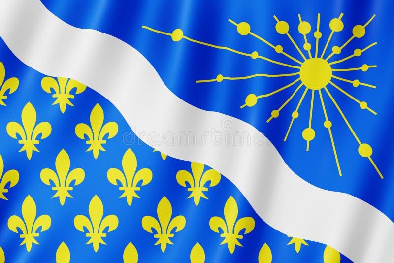 埃松省,法国旗子  免版税库存照片