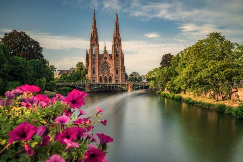 埃格利斯圣保罗史特拉斯堡,法国 免版税库存图片