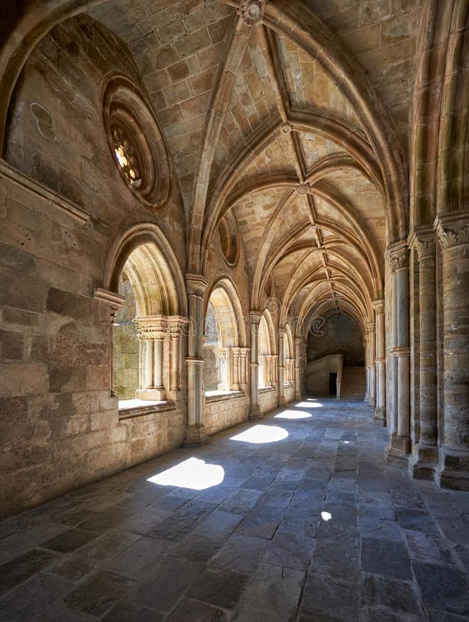 埃武拉大教堂Se修道院内部  葡萄牙 免版税库存照片