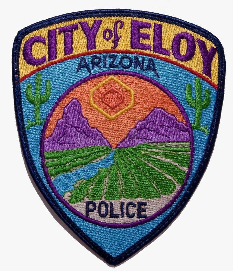 埃洛伊警察局的肩章在亚利桑那 免版税库存图片