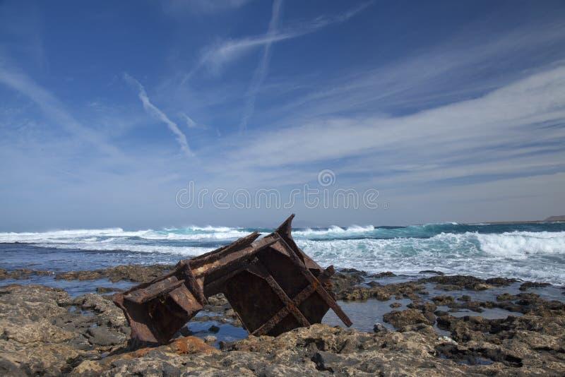 费埃特文图拉岛,加那利群岛,从Farom de Toston的看法往 库存照片