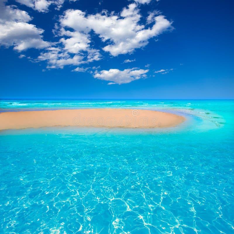 费埃特文图拉岛Jandia海滩Sotavento金丝雀 库存照片
