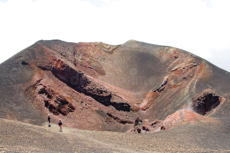 埃特纳火山,意大利 免版税库存照片