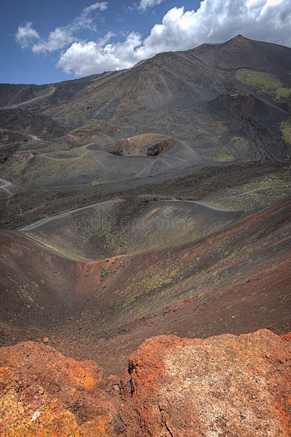 埃特纳火山,西西里岛,意大利 图库摄影