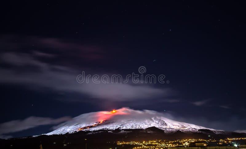 埃特纳火山(火山) 库存照片