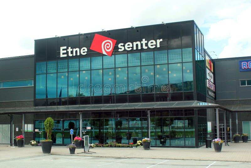 埃特讷中心,最大的购物中心在埃特讷,挪威 图库摄影