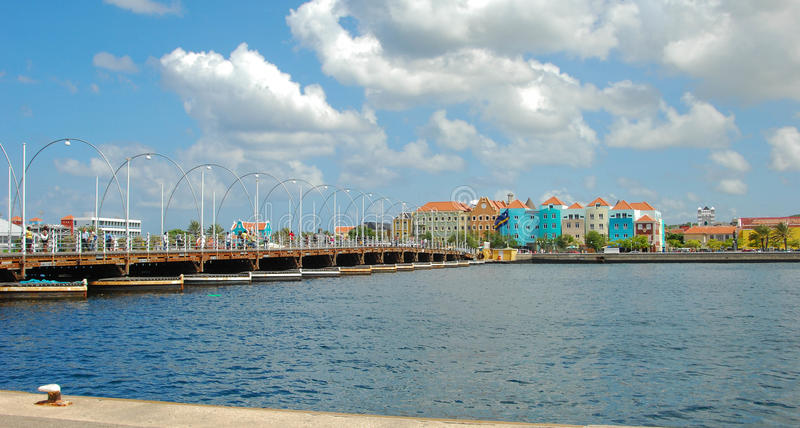 埃玛桥梁库拉索岛 库存图片