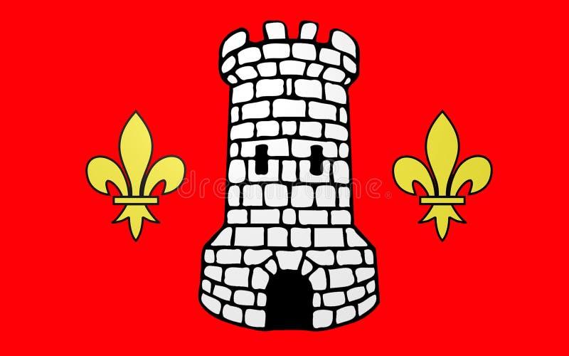埃皮纳勒,法国旗子  免版税库存图片