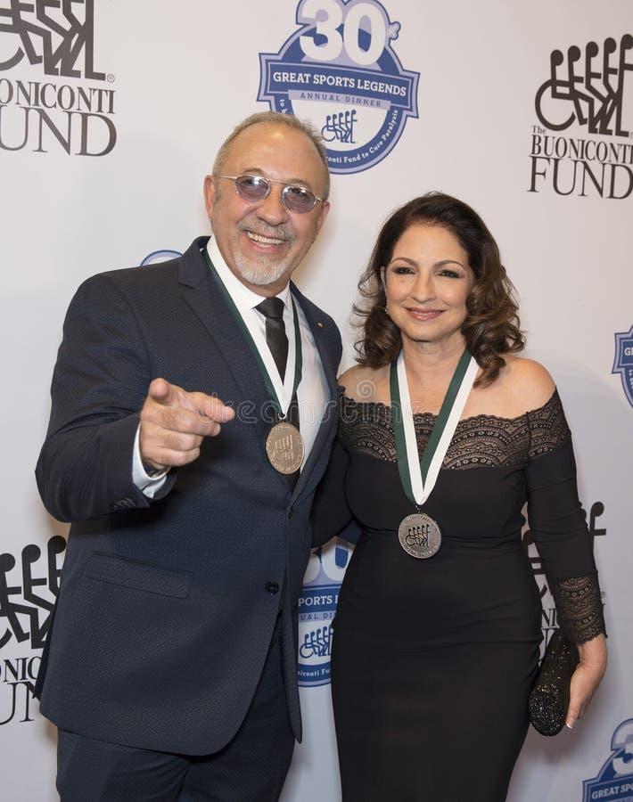 埃米利奥Estefan和格洛丽亚・埃斯特凡 免版税库存照片
