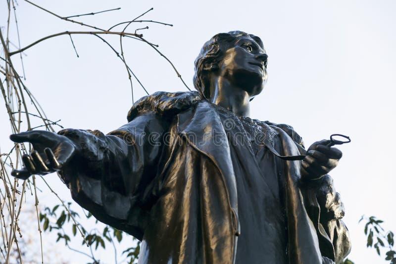埃米莉Pankhurst雕象 库存照片