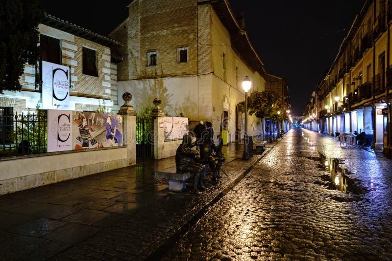 埃纳雷斯堡,马德里,西班牙 2017年11月28日:大街 库存图片