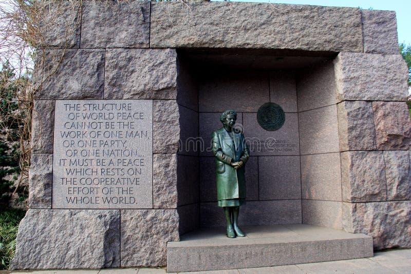 埃莉诺・罗斯福,其中一座的意味深长的词华盛顿特区` s纪念碑, 2017年 免版税库存照片