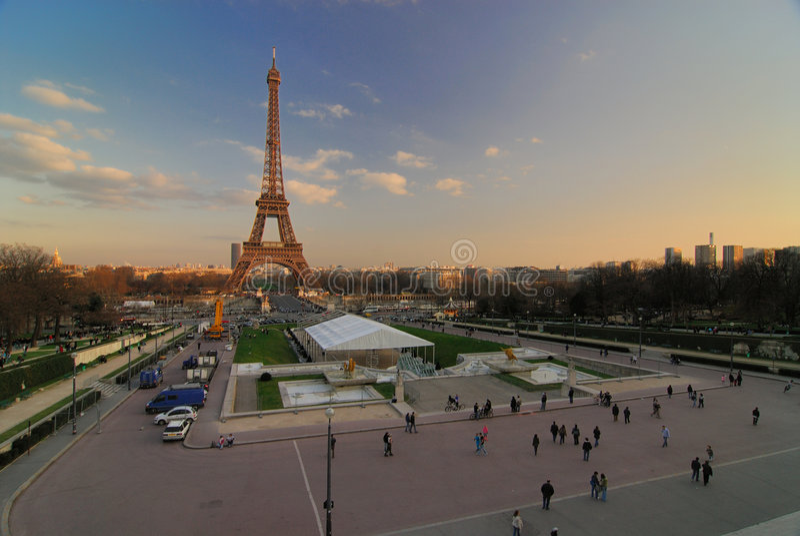 埃菲尔・巴黎浏览 免版税库存照片