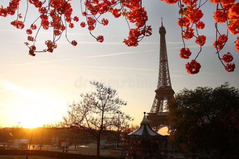 埃菲尔・法国巴黎春天塔 库存图片