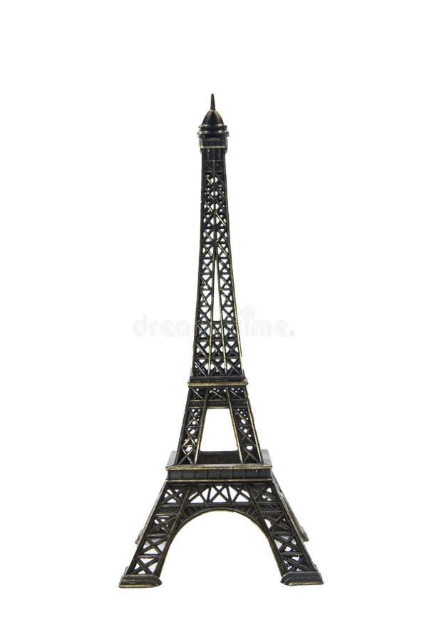 埃菲尔小雕象巴黎纪念品塔 库存图片