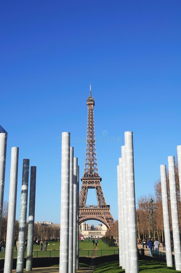 埃菲尔纪念巴黎和平塔 免版税库存图片