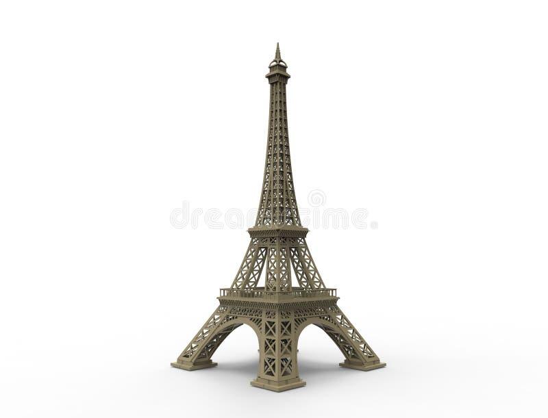 埃菲尔铁塔在巴黎法国隔绝了 向量例证