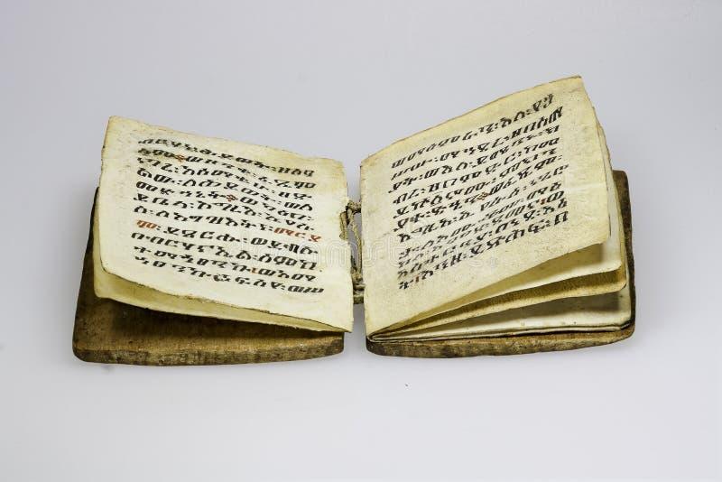 埃赛俄比亚的古老原稿 免版税库存图片