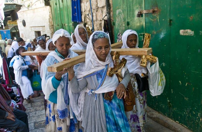 埃赛俄比亚的耶稣受难节 库存图片