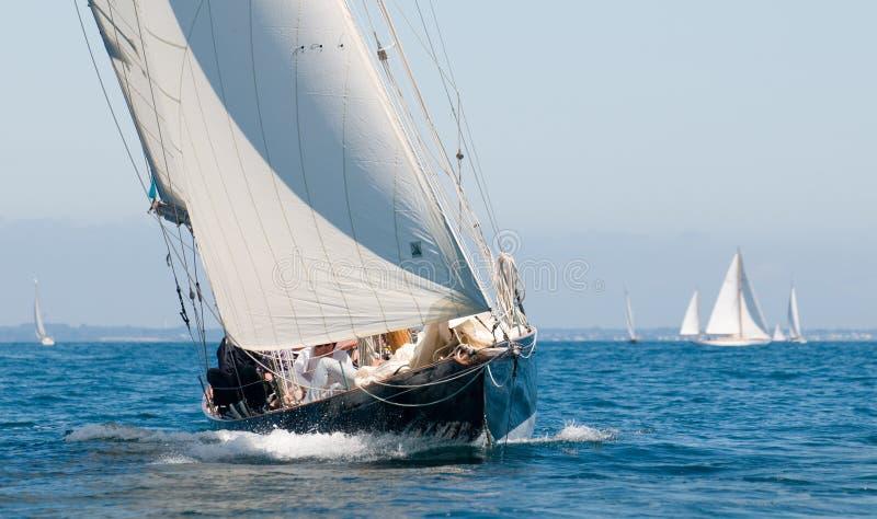 埃里克命名了penduick tabarly游艇 免版税库存图片