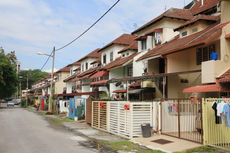 城内住宅在吉隆坡或马来西亚 图库摄影