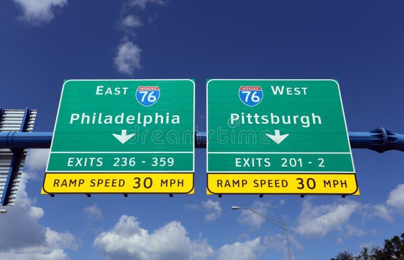 费城和匹兹堡宾夕法尼亚 库存照片