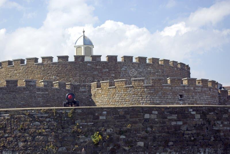 城垛城堡交易 库存照片