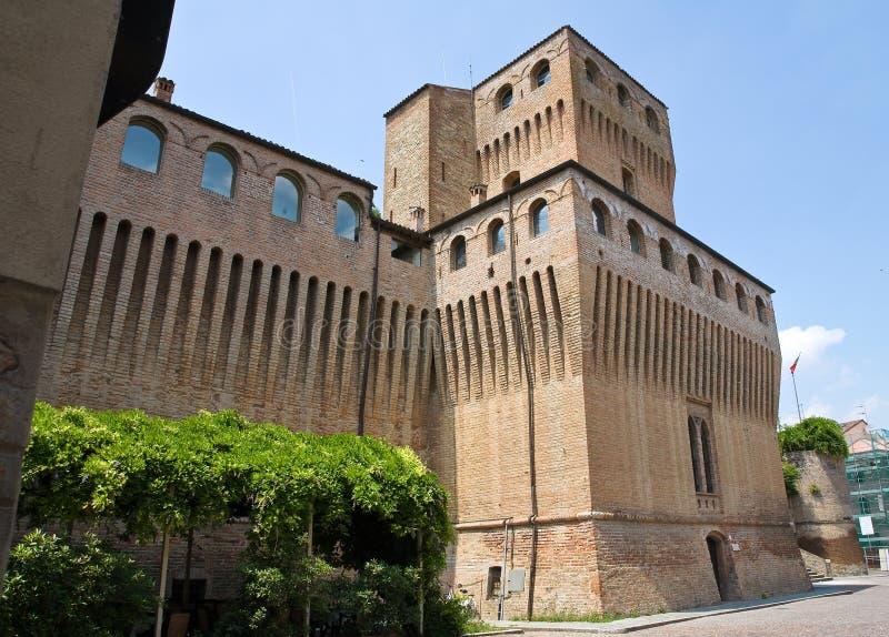 城堡一点红・意大利音乐noceto romagna 库存图片