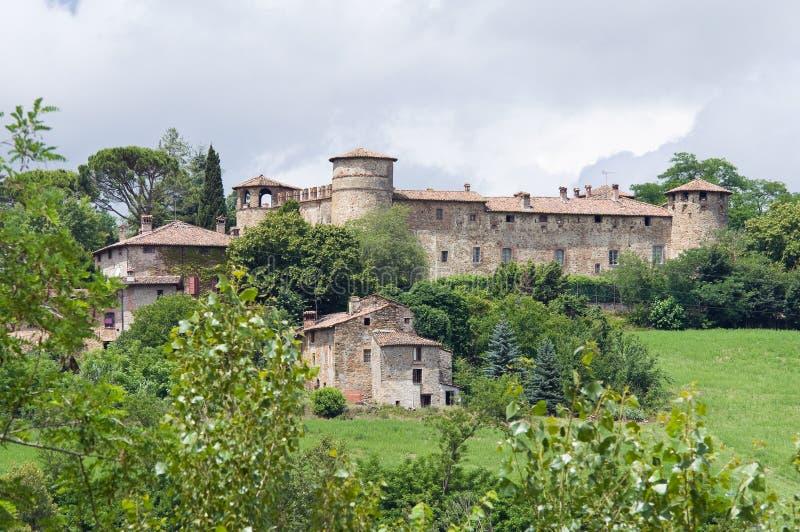 城堡一点红・意大利romagna statto travo 图库摄影