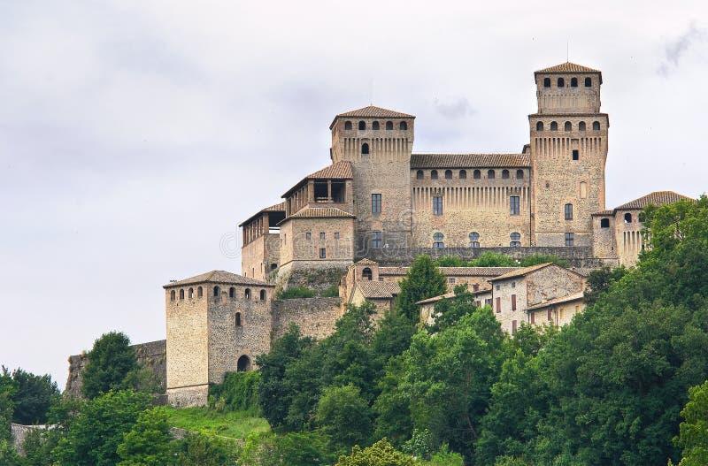 城堡一点红・意大利romagna torrechiara 免版税库存图片
