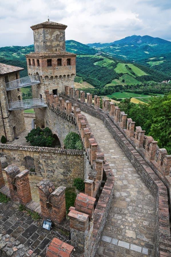 城堡一点红历史意大利romagna 免版税图库摄影