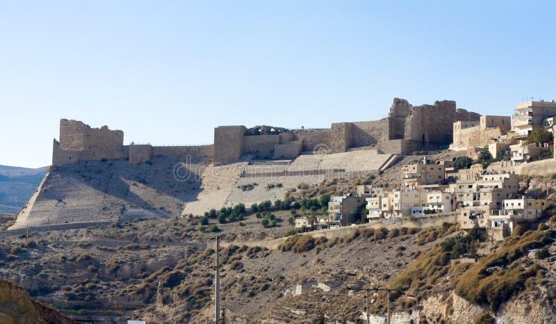 城堡乔丹karak 库存照片