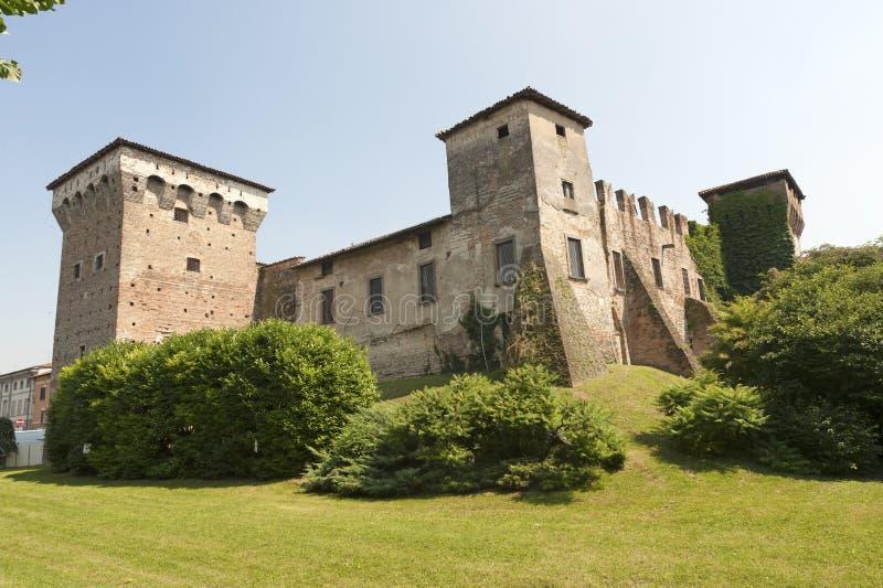 城堡二意大利lombardia中世纪罗马 库存图片