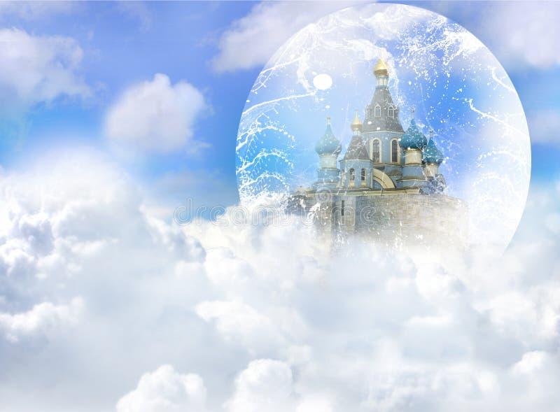 城堡云彩 向量例证